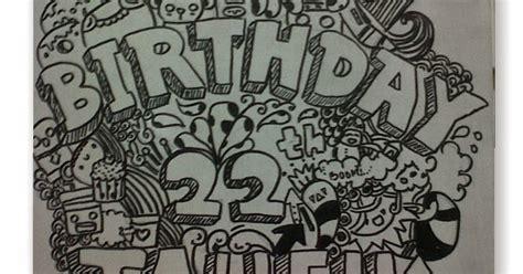 doodle mudah dan unik contoh gambar doodle happy birthday keren dan mudah