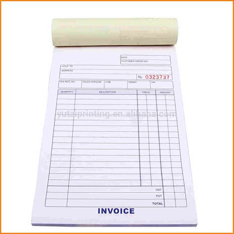 Letter Headed Invoice Books 6 Invoice Bill Book Sle Simple Bill