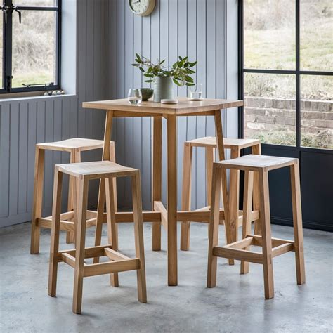 wooden high bar table waldorf contemporary breakfast table oak high tables