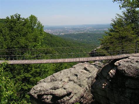 rock city swinging bridge panoramio photo of swing a long bridge rock city lookout