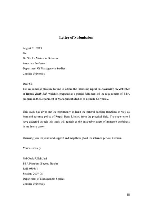 application letter for extension of internship internship report on rupali bank limited comilla