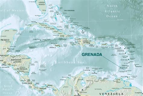 where is grenada located on a world map grenada world map