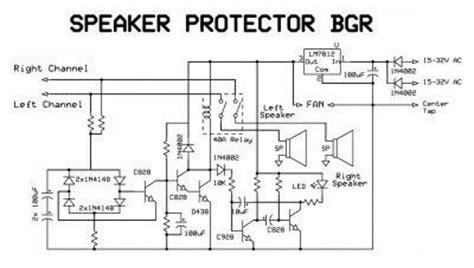 Speaker Protektor skema rangkaian speaker protektor zona elektro