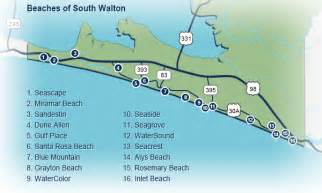 south walton florida map south walton florida map pictures to pin on