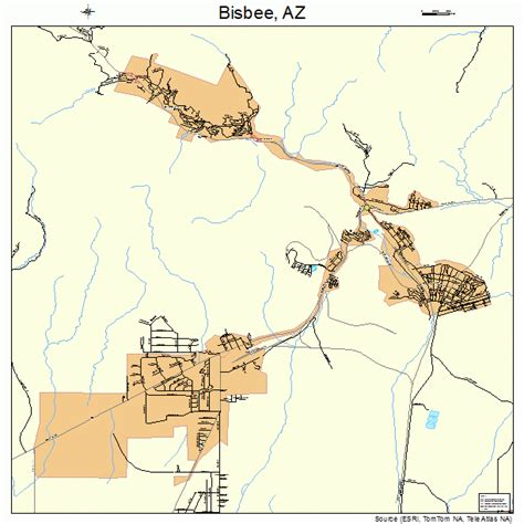 bisbee az map map of downtown bisbee pictures to pin on