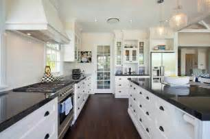Kitchen White Cabinets Black Granite 36 Inspiring Kitchens With White Cabinets And Granite Pictures