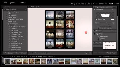 adobe lightroom templates julieanne kost how to create a contact sheet in adobe
