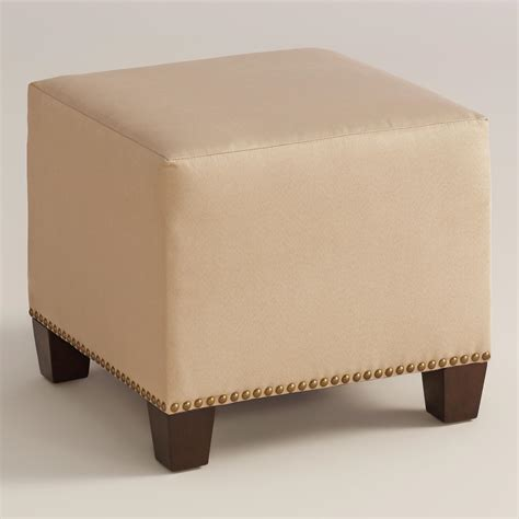 pouf ottoman world market micro suede mckenzie upholstered ottoman world market