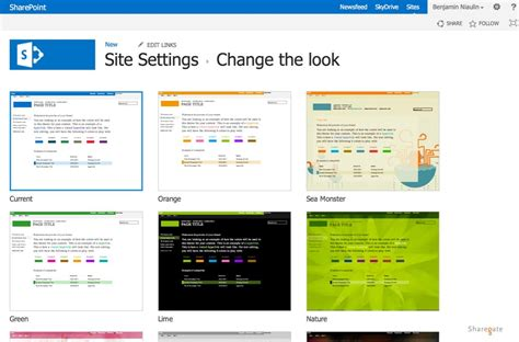 how to change your look sharepoint 2013 color palette tool sharegate