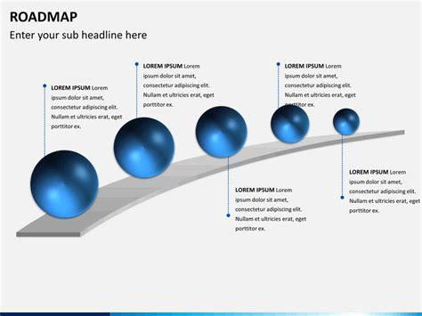 roadmap slide template free roadmap powerpoint template sketchbubble