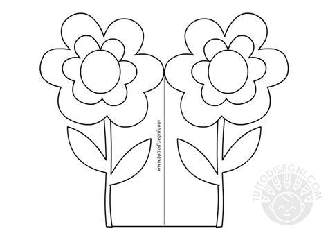 le parti fiore da colorare biglietto festa della mamma con fiore da colorare