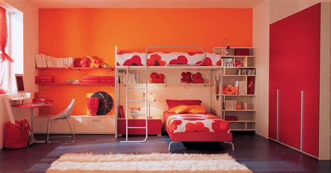kids red bedroom orange n red kids bedroom with bunk beds stylehomes net