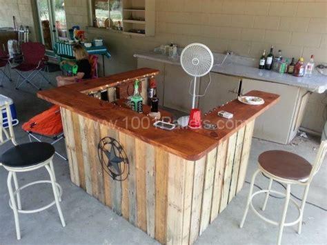 Outdoor Mini Bar Furniture by 40 Creative Diy Pallet Furniture Project Ideas Tutorials