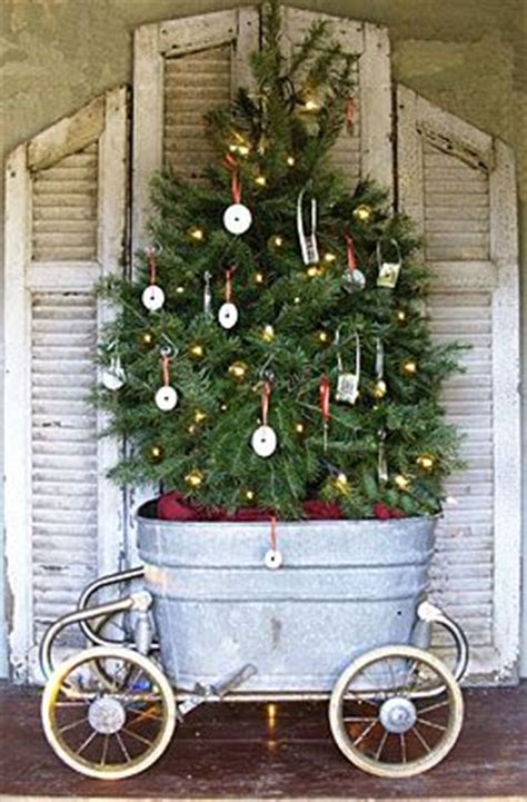 pictures of christmas trees in a wash tub tree display decorations trees buckets and wash tubs