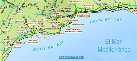 mlaga y costa del 8499356885 mapa costa del sol threeblindants com