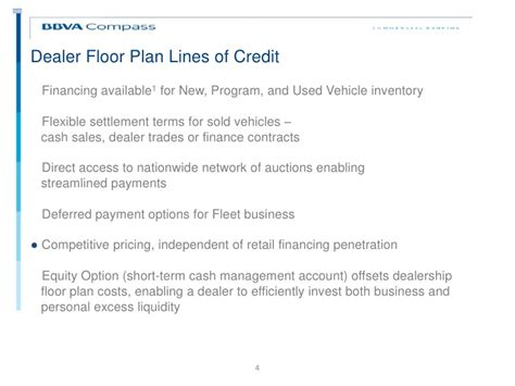 auto dealer floor plan line of credit auto dealership overview presentation