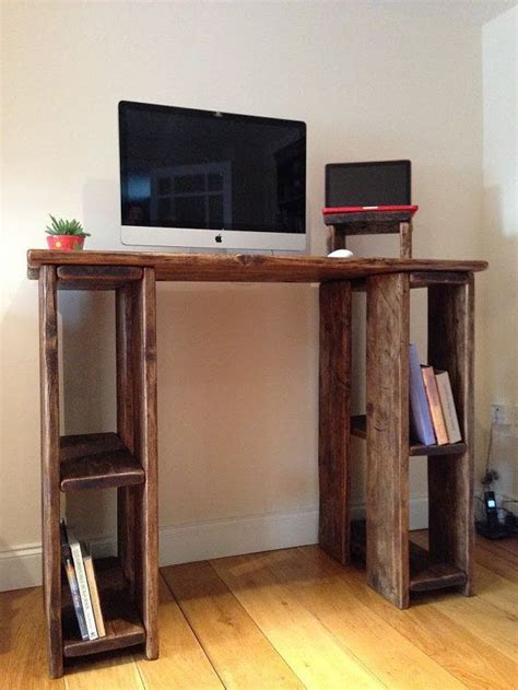 rustic standing desk stand  desk  reclaimed wood