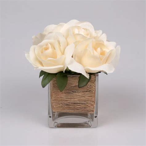 Roses w/ Small Square Vase| Jodhpuri