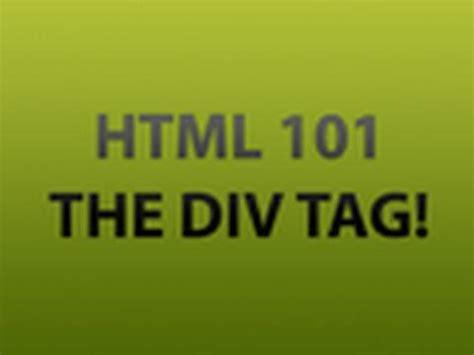 html tutorial using div div html tag