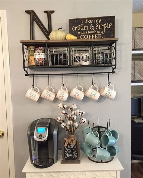 Kitchen Coffee Station Ideas ? DIY Home Coffee Bar Set Ups