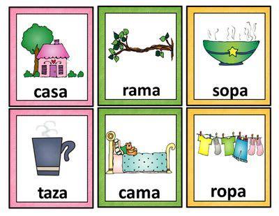 tarjetas de lectura biblioabrazo spanish rhyming words tarjetas de palabras que riman