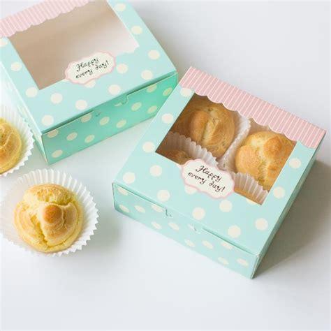 Box Kue Sovenir Cake Box Cake Cupcake Muffin Pudding 4 6 8 pcs muffin paper boxes cupcake cardboard paper box with window mooncake gift cake bakery