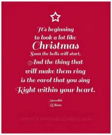 It s beginning to look a lot like christmas soon the bells will start