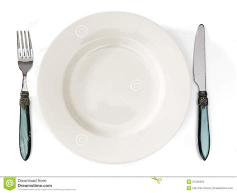 and cutlery plate and cutlery stock images image 21345254
