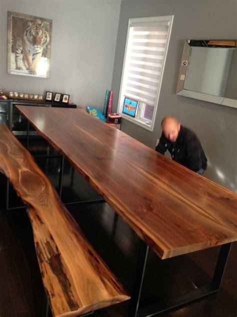 black walnut table  edge table wood slab tables