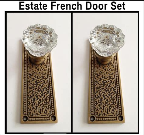 door knobs for french doors french door knob set designer brass backplates with
