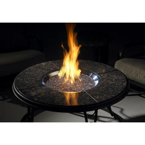 propane firepit 42 inch chat propane gas pit table with granite top and lazy susan by outdoor greatroom