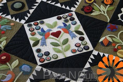 Wool Applique Quilt by N Quilt Wool Applique Quilt