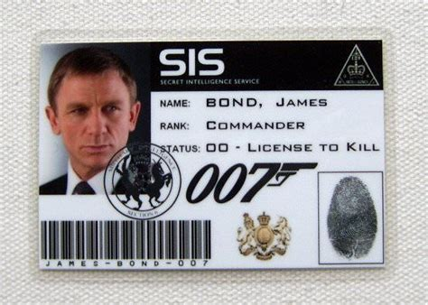 007 Id Card Template by Carte Identification Card Id Bond Sis 1285694995 Jpg