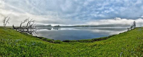 panoramic landscape  small lake  photo  pixabay