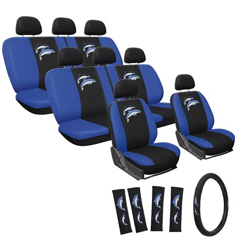 3b Auto Logo by 25pc Dolphin Seat Cover Logo Fx Embroidered 60 40 Split