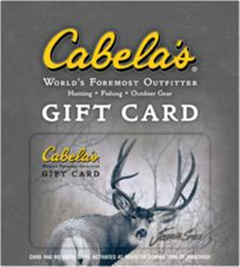 Cabelas Online Gift Card - cabelas gift card code