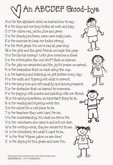 day lyrics abc revised abc ya farewell poem for the end of the year school