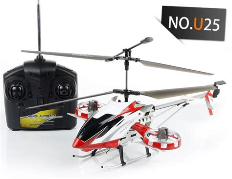 big rc helicopter u25 2 color 4 channel remote