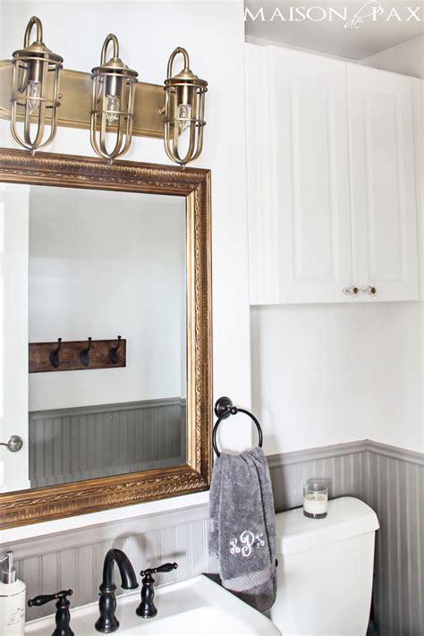 rustic chic bathroom rustic chic half bath maison de pax
