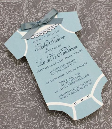Diy Boy Baby Shower Invitations by Diy Baby Boys Onsie Shower Invitation Template From