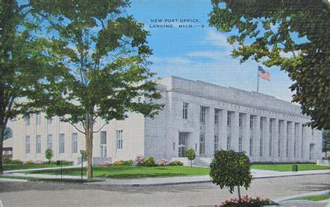 Lansing Post Office by Lansing Michigan Post Office Post Card