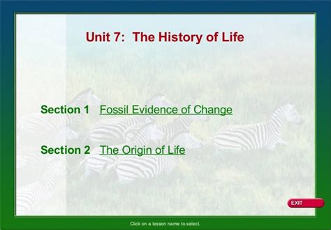 section 17 1 the fossil record answers biology ch 14 history of life