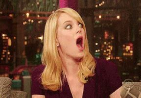 emma stone funny face tumblr shocked emma stone gif find share on giphy