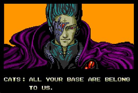 All Your Base Are Belong To Us Meme - tesla motors shares their tech via zero wing gaming meme