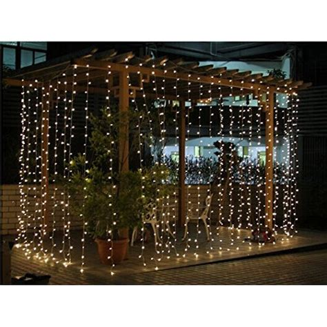 connectable 3x3m rubber cable outdoor curtain lights