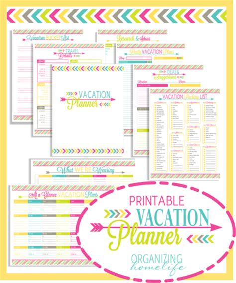 printable vacation planner template printable vacation planner and duo binder giveaway