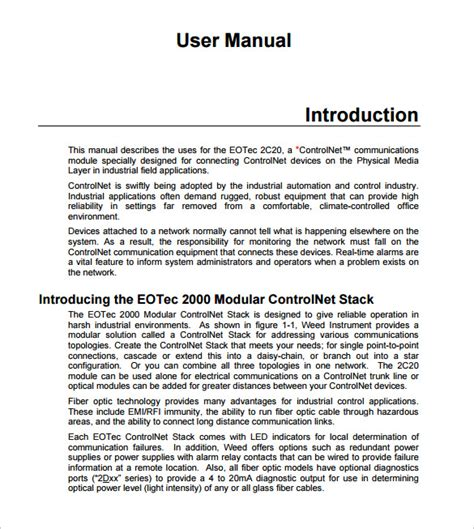 user manual template 9 download documents in pdf