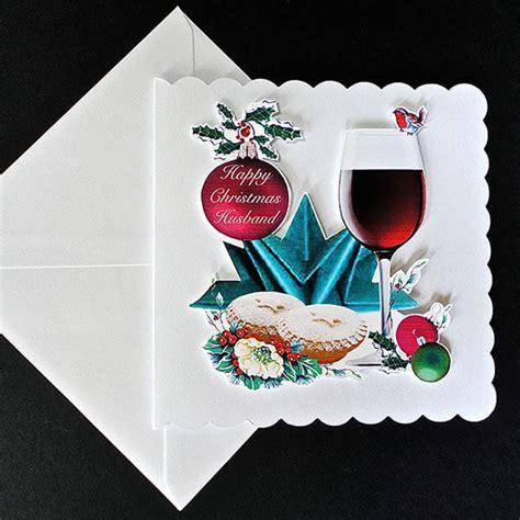 Handmade Menu Cards - cheers handmade card husband decorque cards