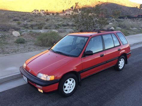 buy car manuals 1990 honda civic security system honda civic wagon 1991 rio red for sale jhmee4761ms002521 1991 honda civic rt4wd wagon 6 speed