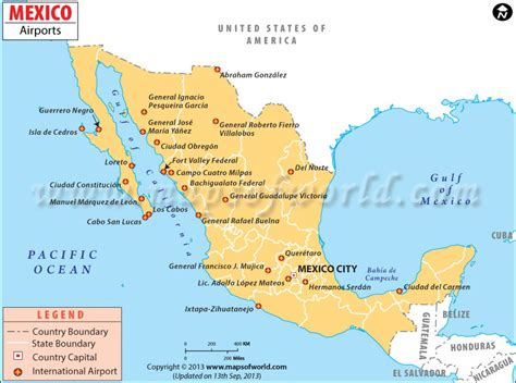 map mexico airports airports in mexico mexico airports map